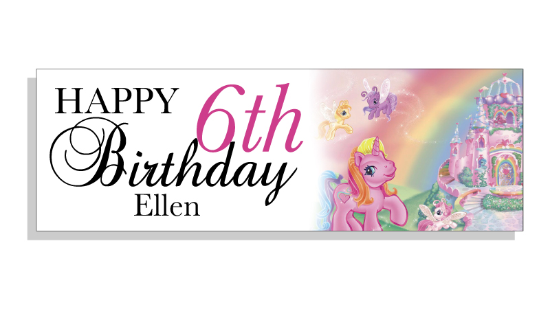my little pony happy birthday banner ; Happy-Birthday-Banners-Custom-Text-Photo-Unicorn