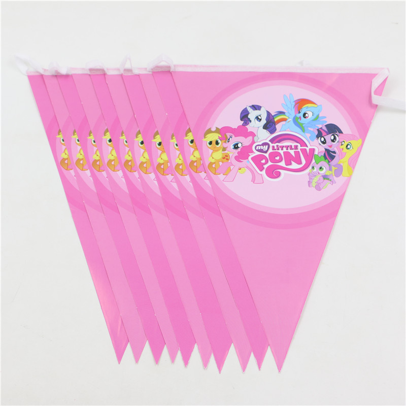 my little pony happy birthday banner ; Hot-Kids-Girls-Birthday-Flag-Decoration-My-Little-Pony-Happy-Birthday-Party-Pennant-Bunting-Paper-Banner