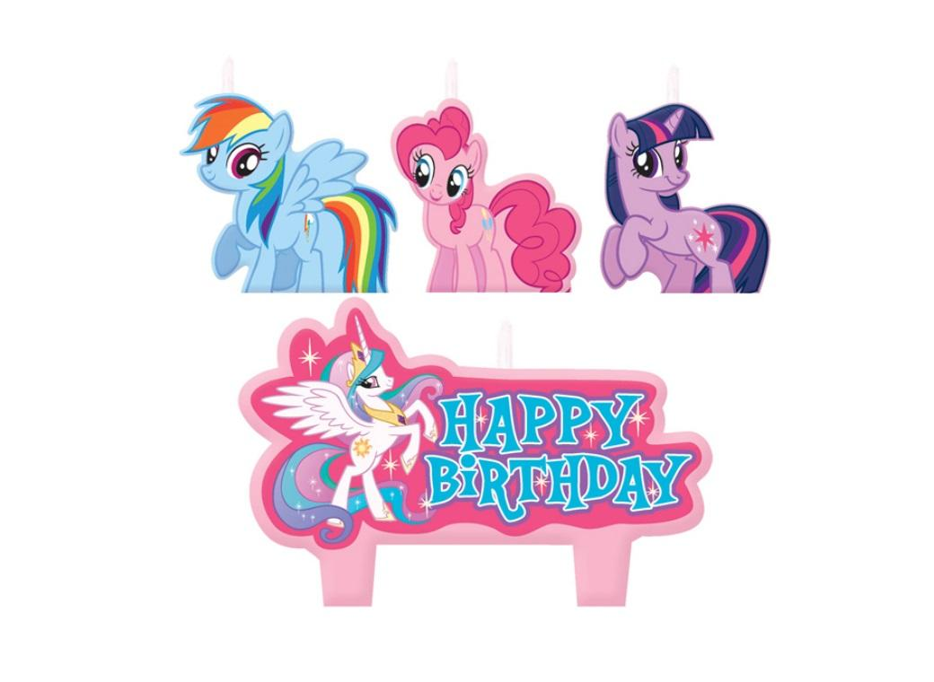 my little pony happy birthday banner ; my_little_pony_candles