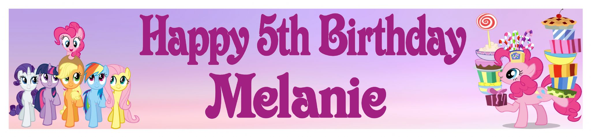 my little pony happy birthday banner ; personalised-my-little-pony-banner-3165-p
