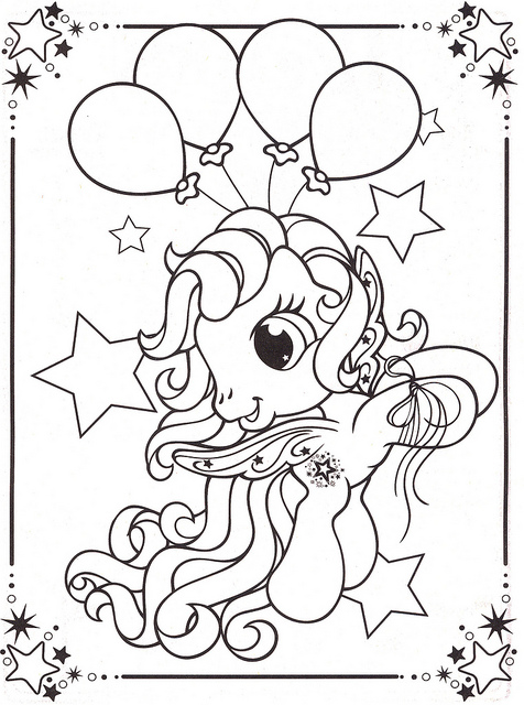my little pony happy birthday coloring page ; 7043318707-1df50752a3-z