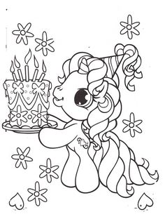 my little pony happy birthday coloring page ; e2cefd318311be203e5e714ba207feb5--pony-car-kids-colouring