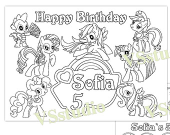 my little pony happy birthday coloring page ; il_340x270