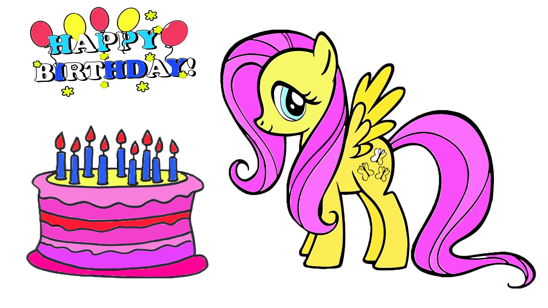 my little pony happy birthday coloring page ; maxresdefault