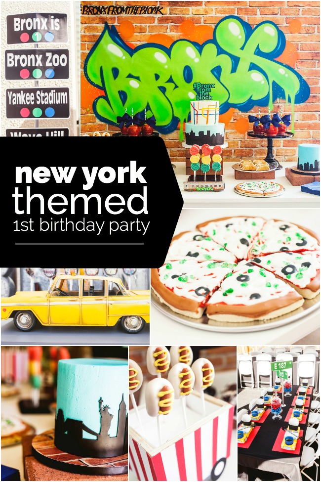 new birthday themes ; new-york-themed-first-birthday-party-ideas