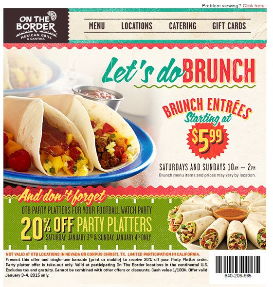 on the border birthday coupon ; ontheborder-coupons-jan4