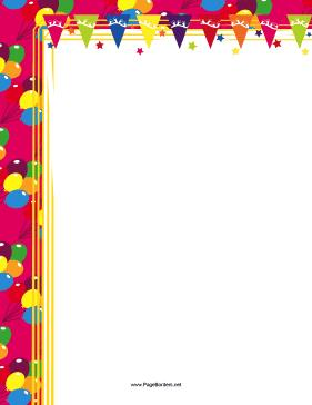 page borders for birthdays ; Birthday_Party_Border