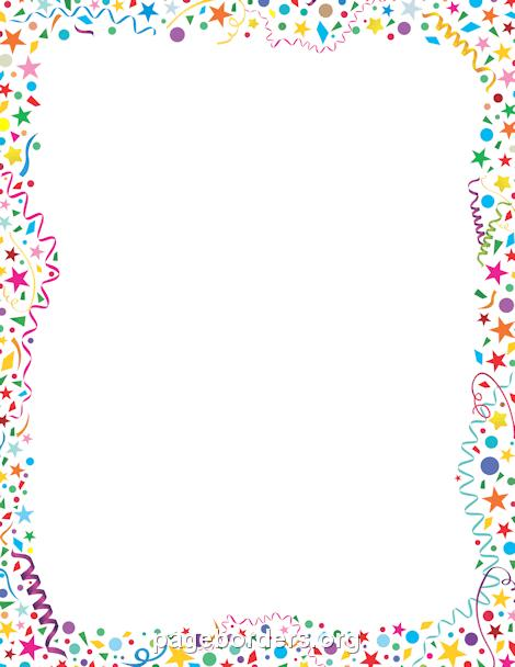 page borders for birthdays ; confetti-border-preview