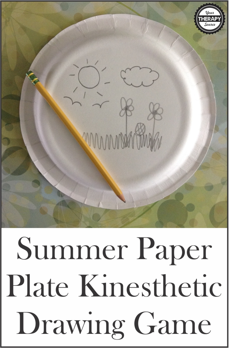 paper plate drawing game birthday ; Summer-Paper-Plate-Kinesthetic-Drawing-Game