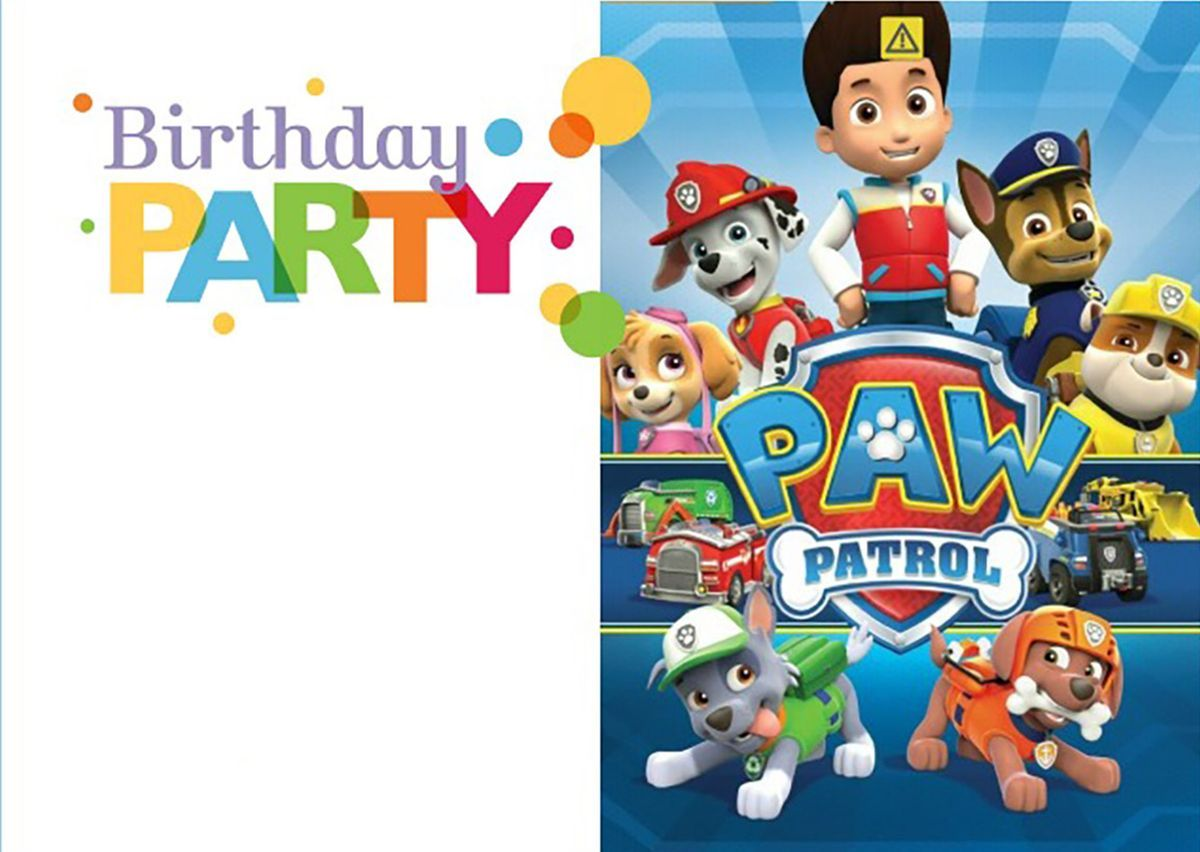 paw patrol birthday invitation template ; 9f96422431b0e9bbf5264d93268843b2