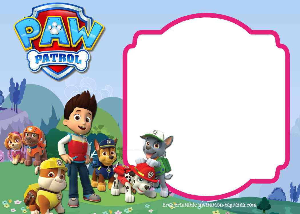 paw patrol birthday invitation template ; FREE-Printable-Paw-Patrol-All-Characters-Invitation-Template