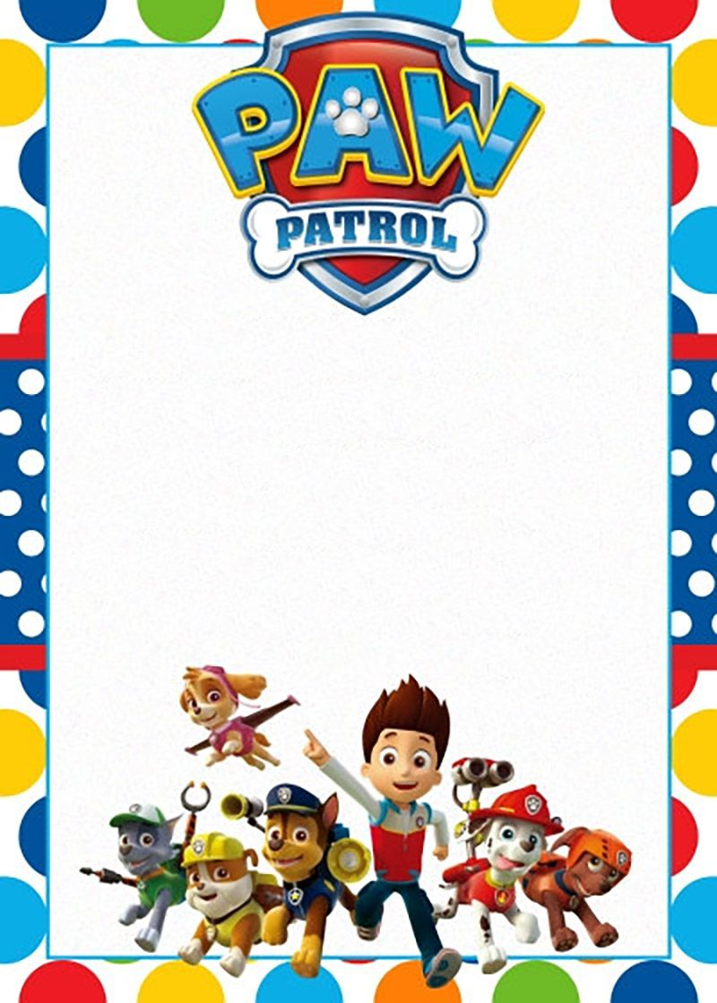 paw patrol birthday invitation template ; Free-Printable-Paw-Patrol-Invitation-Template