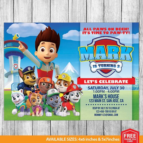paw patrol birthday invitation template ; paw-patrol-birthday-invites-by-means-of-creating-enchanting-outlooks-around-your-Birthday-Invitation-Templates-7