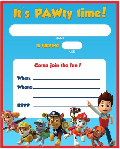 paw patrol birthday invitation template ; paw-patrol-birthday-invites-for-the-invitations-design-of-your-inspiration-Birthday-Invitation-Templates-party-1
