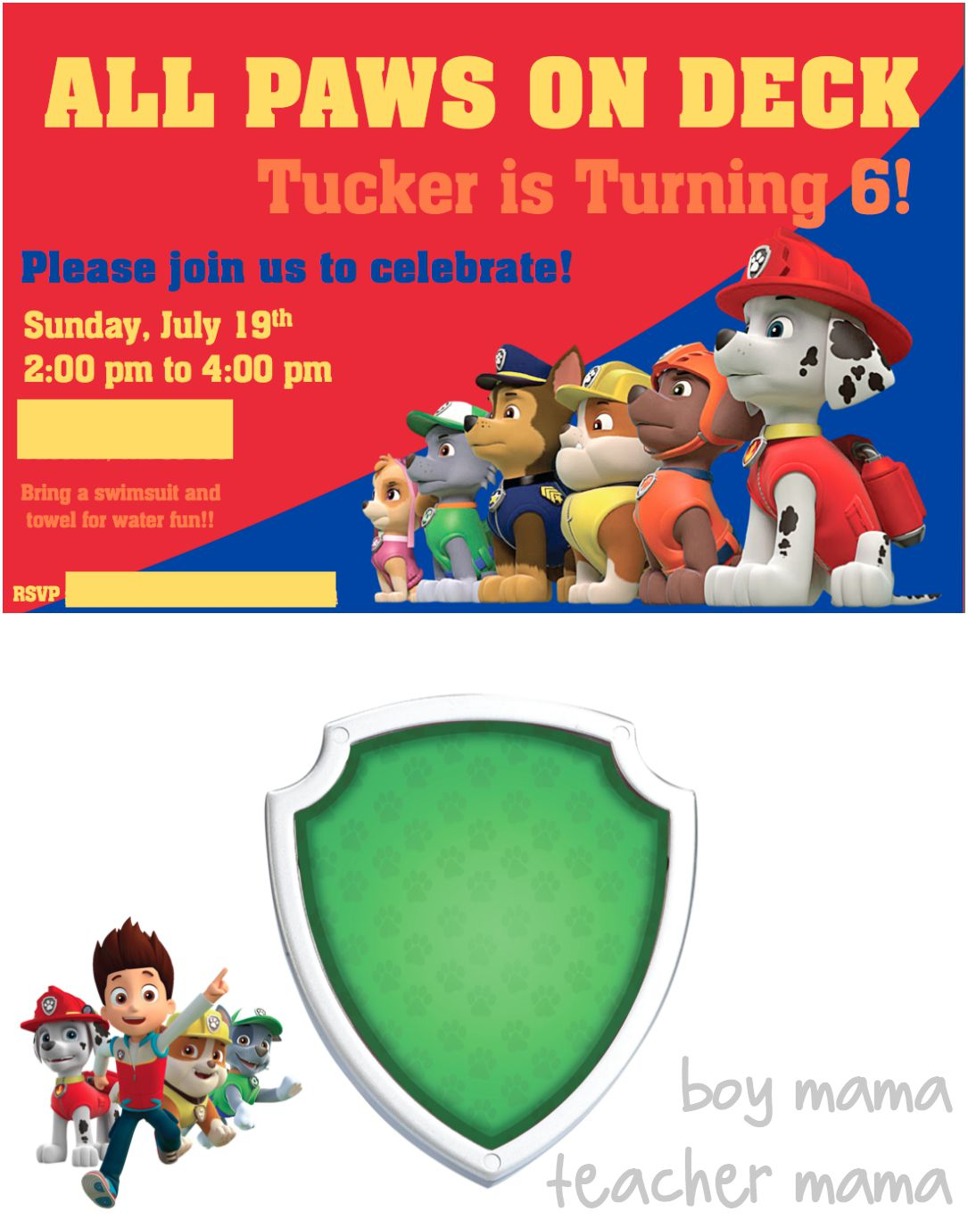 paw patrol birthday invitation template ; paw-patrol-birthday-party-invitations-with-stylish-ornaments-to-beautify-your-Birthday-Invitation-Cards-invitation-card-design-13