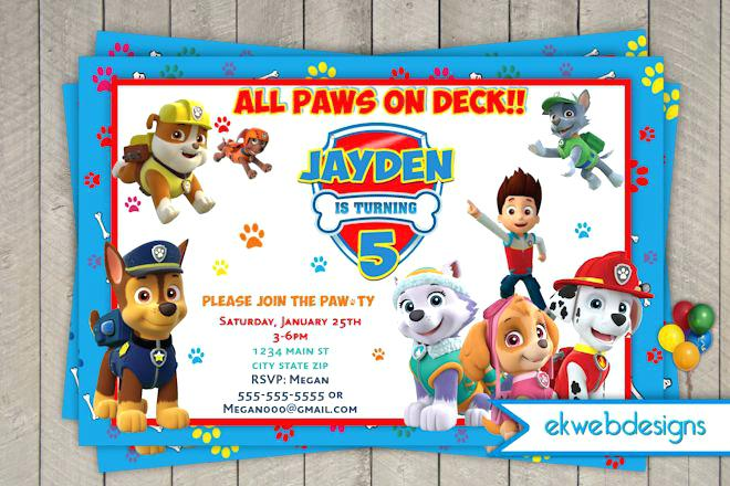 paw patrol birthday invitation template ; paw-patrol-invitation-template-paw-patrol-birthday-party-invitation-template
