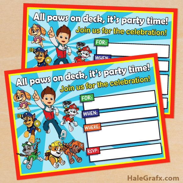 paw patrol birthday invitation template ; paw-patrol-invitation