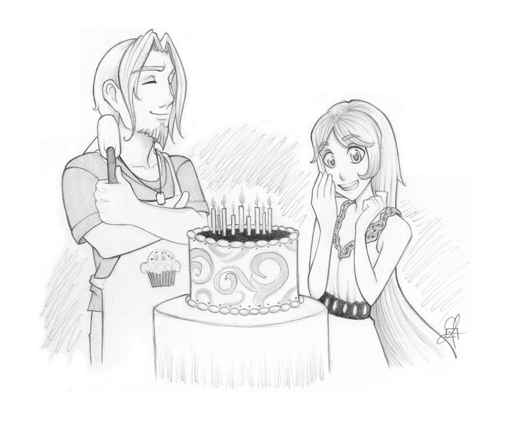 pencil drawing for birthday ; birthday-cake-pencil-drawing-38
