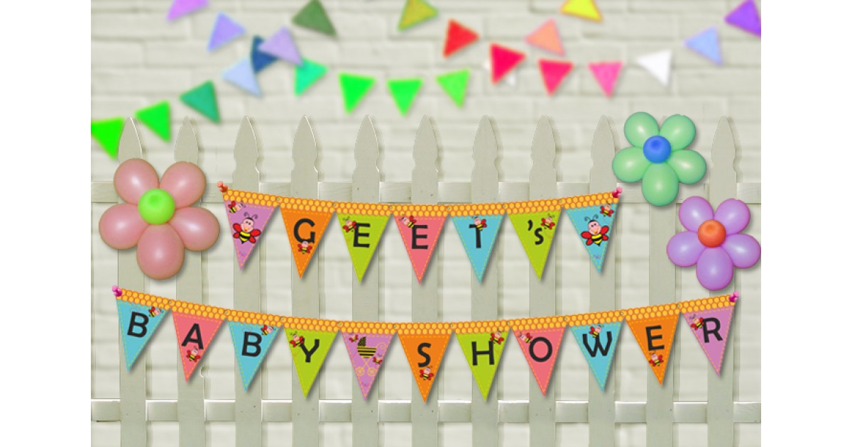 personalised birthday banners online ; Banner_Bee_Personalized_Penant1-1200x630w