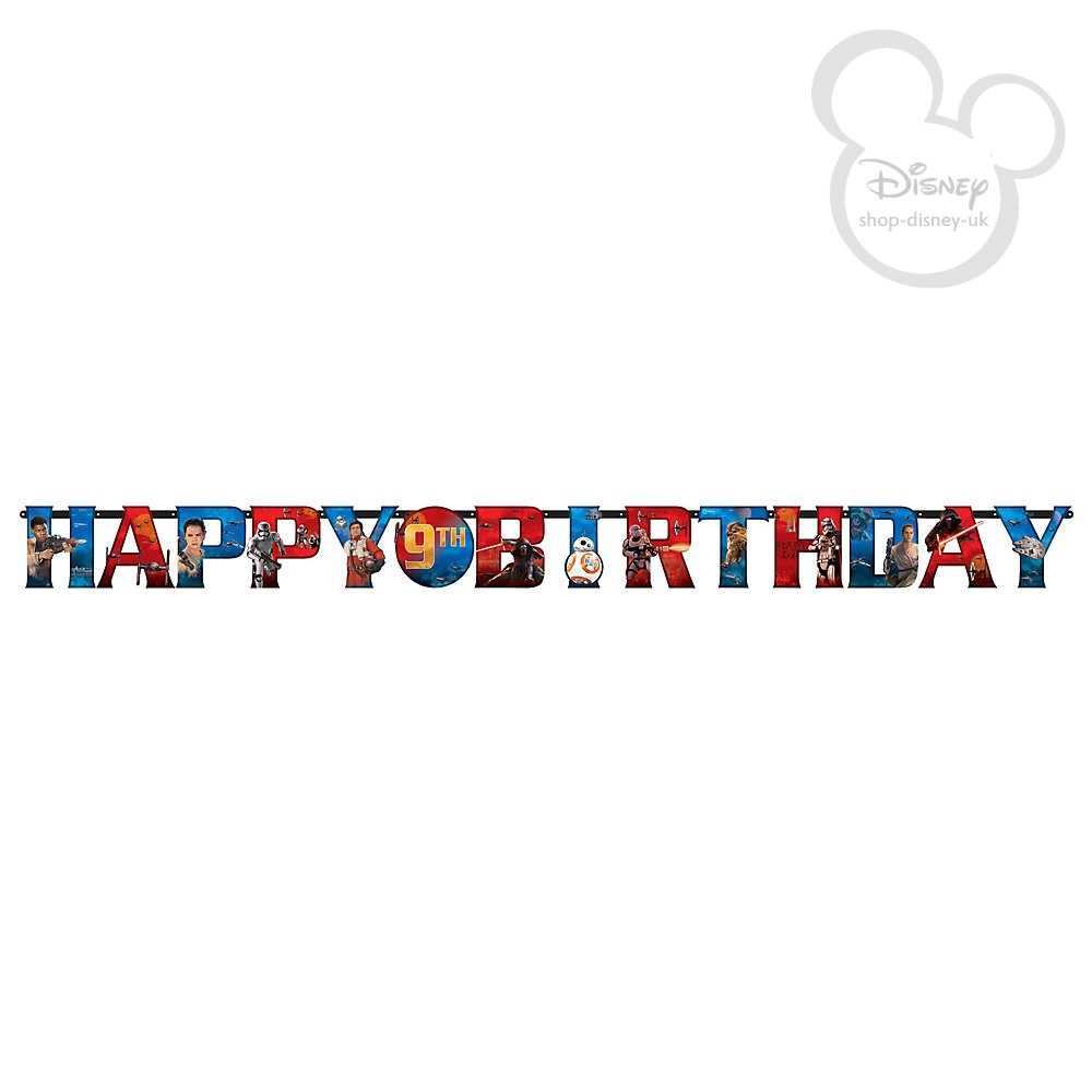personalised birthday banners online ; free-delivery-disney-star-wars-the-force-awakens-personalised-birthday-banner-31