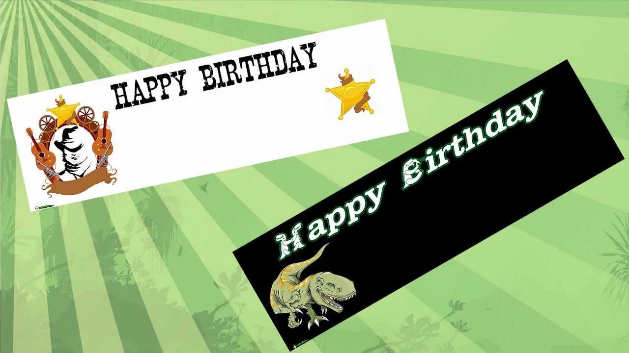 personalised birthday banners online ; maxresdefault