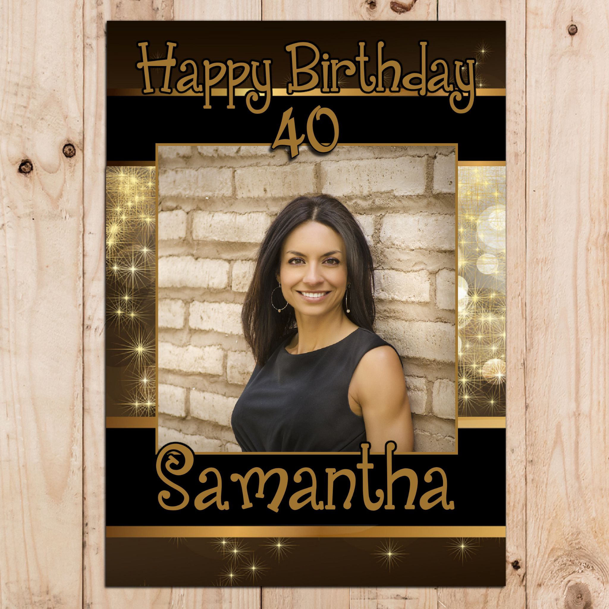 personalised birthday posters ; personalised-black-gold-happy-birthday-party-photo-banner-poster-n26-12479-p