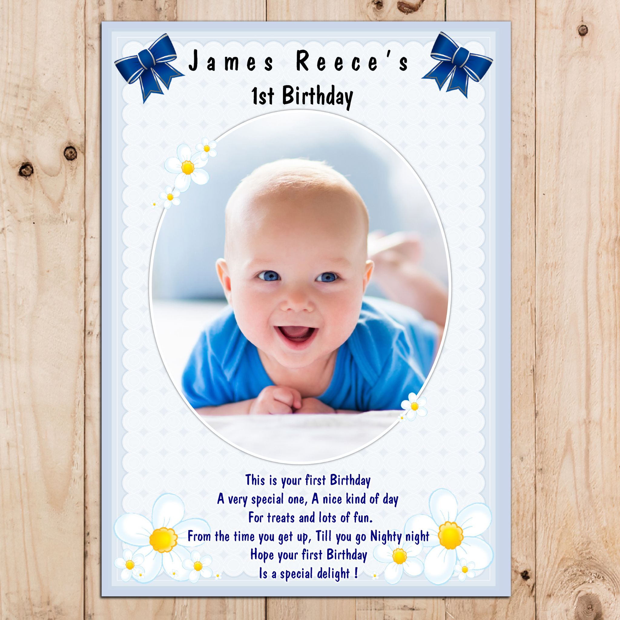 personalised birthday posters ; personalised-boys-happy-1st-first-birthday-party-photo-poster-banner-n18-3444-p
