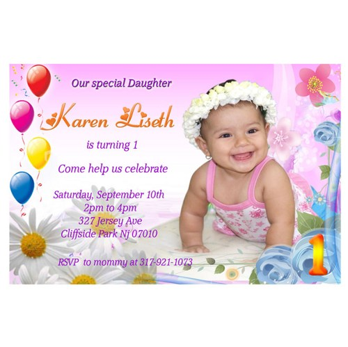 personalised photo birthday invitations ; 1st_first_birthday_girl_personalized_birthday_party_invitation_dd60ce56