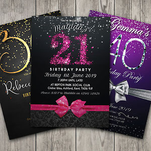 personalised photo birthday invitations ; s-l300