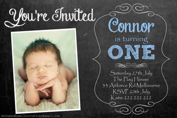 personalized 1st birthday invitations photo ; 4_a8137fb14731480d8203a83888614447blue