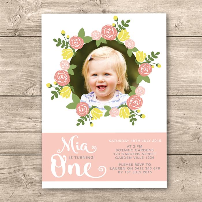 personalized 1st birthday invitations photo ; 4_b2d7bd9186e94d45b2ab30e91712595aFloral%25201st%2520birthday%2520invitation