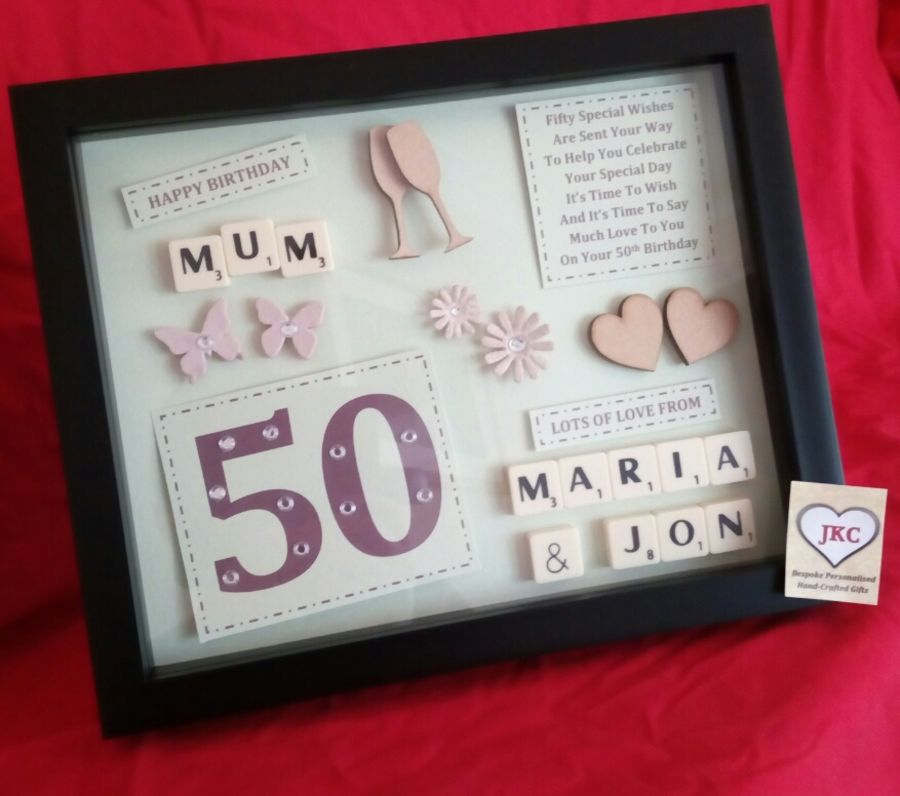 personalized 50th birthday picture frame ; 1357356-main