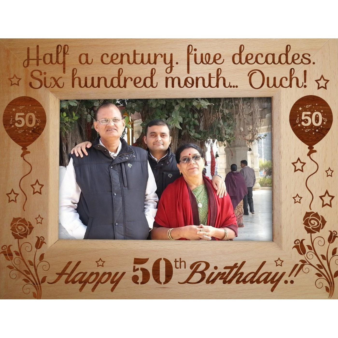 personalized 50th birthday picture frame ; 29-1400x1400