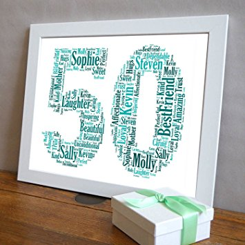 personalized 50th birthday picture frame ; 81yAqf94c1L