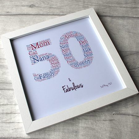 personalized 50th birthday picture frame ; 8d9a52c7cb1f15a01e2ad9241c340a7f