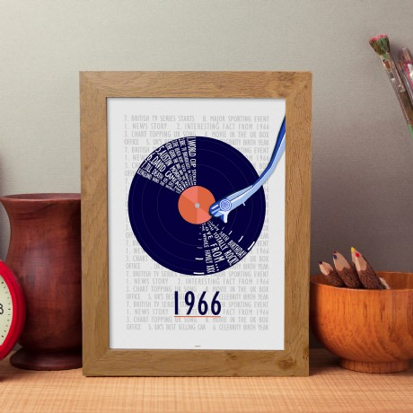 personalized 50th birthday picture frame ; best-sample-50th-birthday-gifts-for-men-wooden-frame-retro-record-picture-classic-old-simple-fantastic-stay-young-music