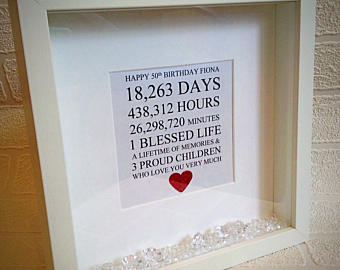 personalized 50th birthday picture frame ; il_340x270