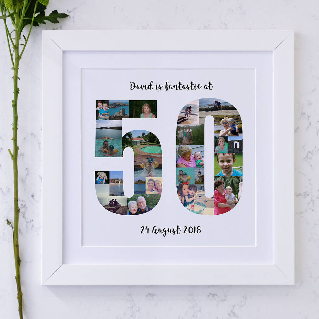 personalized 50th birthday picture frame ; original_personalised-50th-birthday-photo-collage