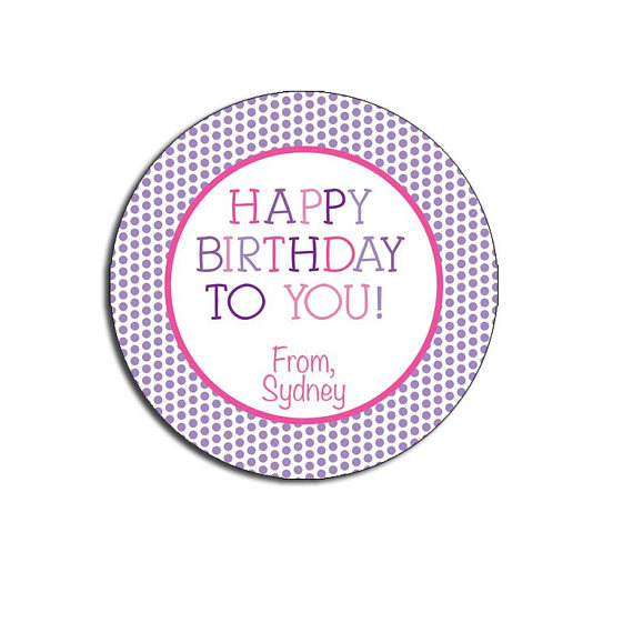 personalized b day stickers ; il_570xN