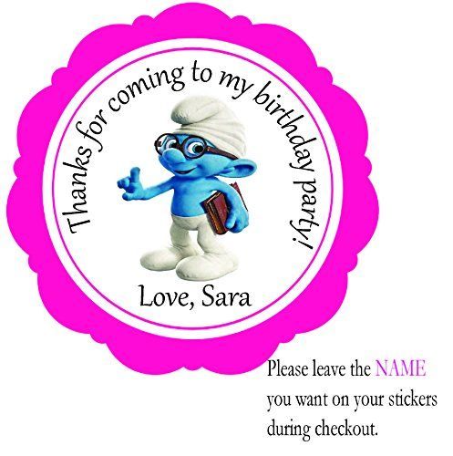 personalized birthday party favor stickers ; 7a4858700124e5deef23036c1e9435fe