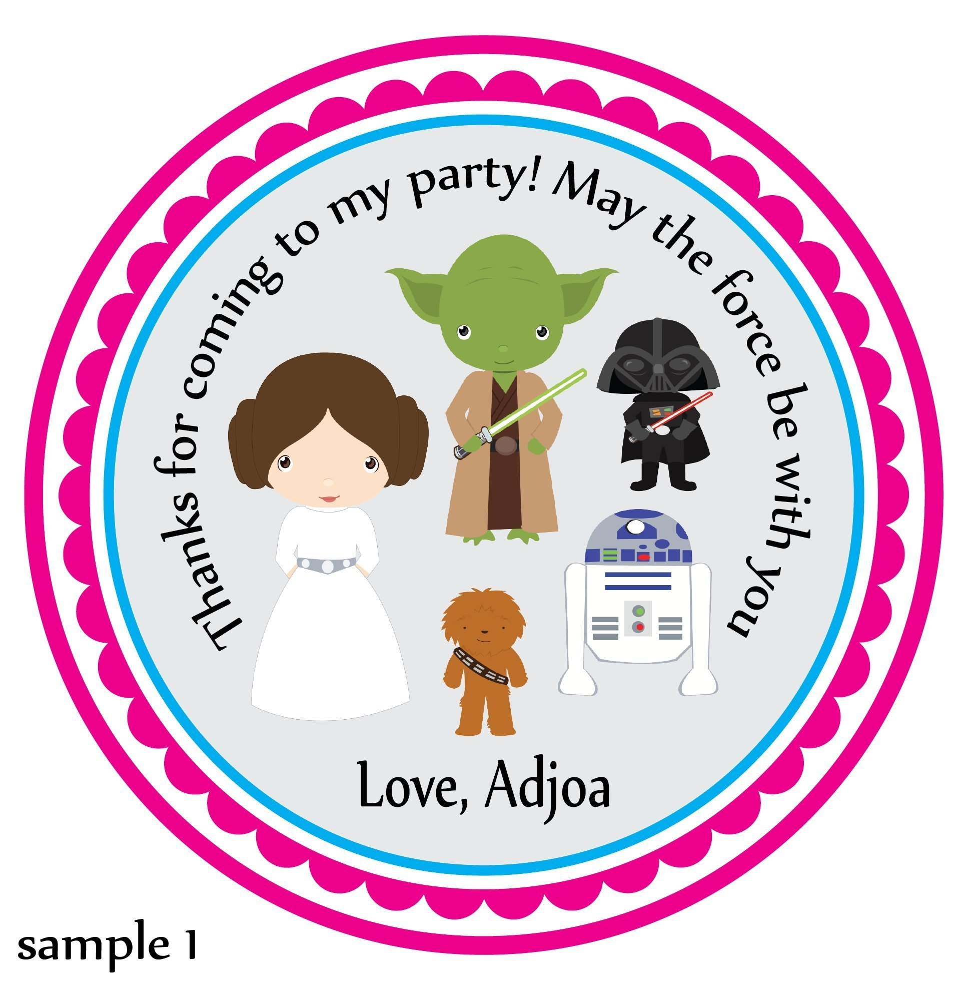 personalized birthday party favor stickers ; 991e78b21a625b869173d04edeeac811