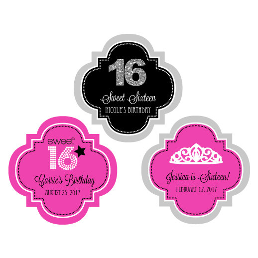 personalized birthday party favor stickers ; il_570xN