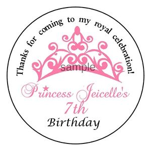 personalized birthday party favor stickers ; s-l300