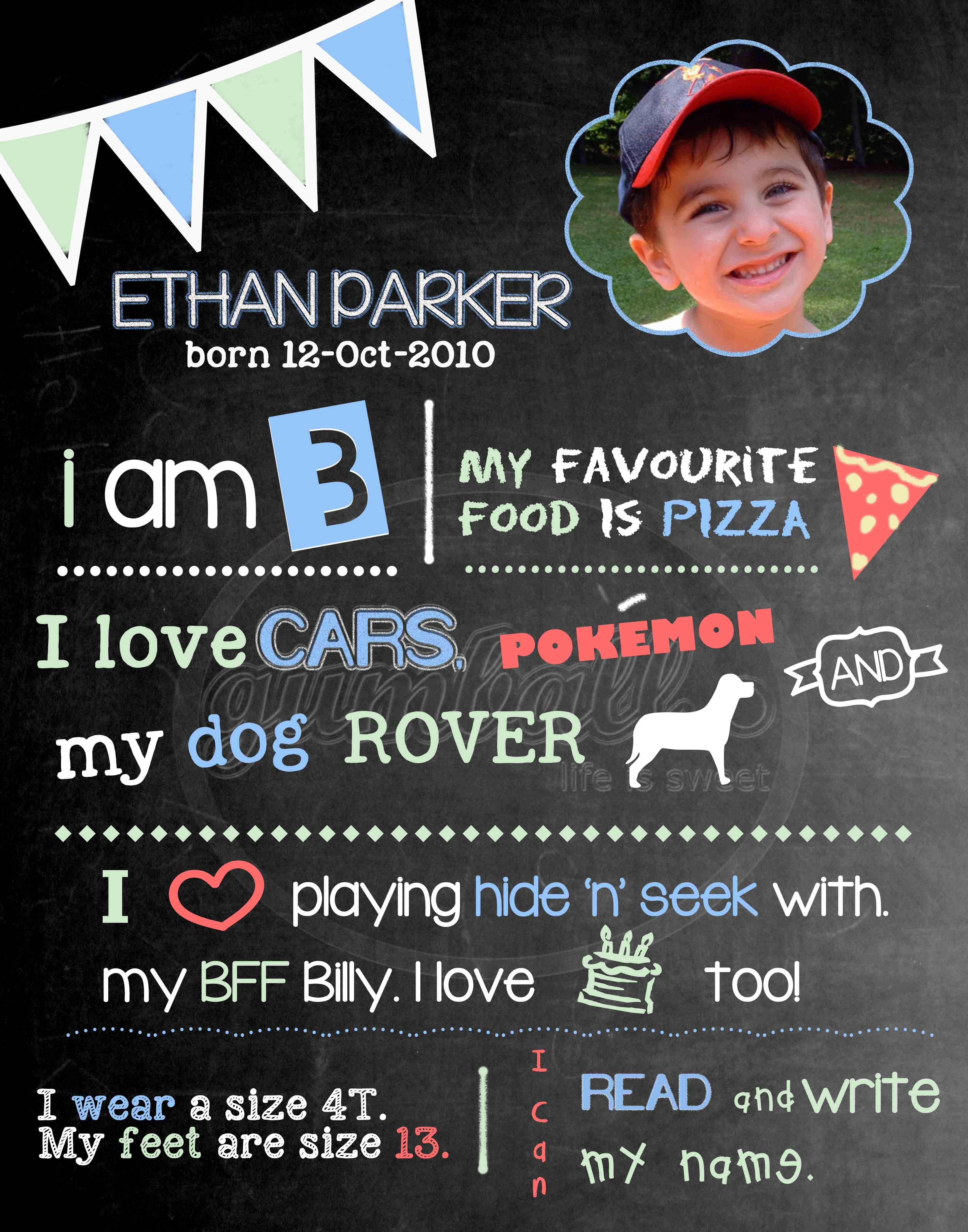 personalized birthday poster ; 2cda29ee56c19ab0a184c9da8671d95f