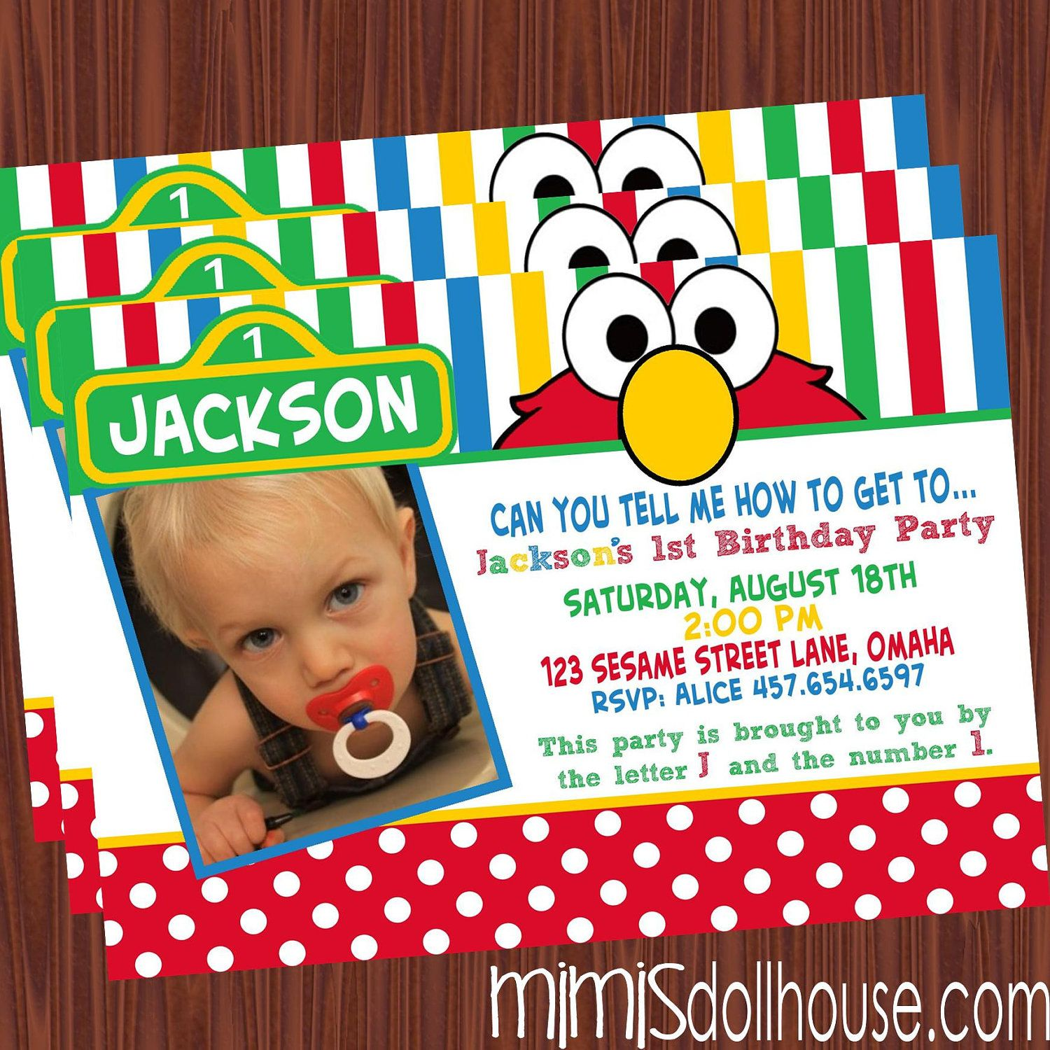 personalized photo elmo birthday invitations ; 72b85aa966e8f48e4c4e4cb7aa36a832