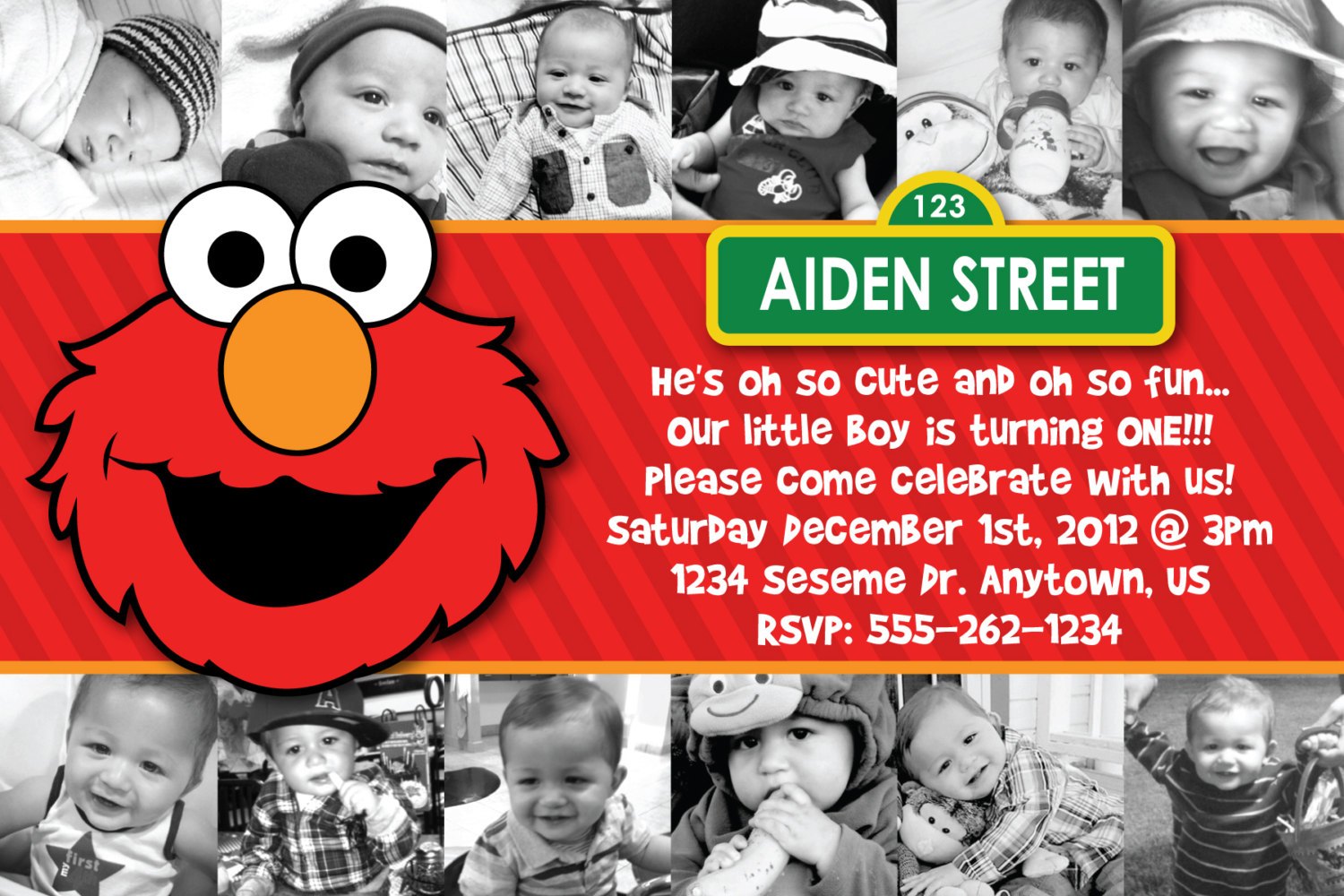 personalized photo elmo birthday invitations ; Elmo-Birthday-Invitations-Australia