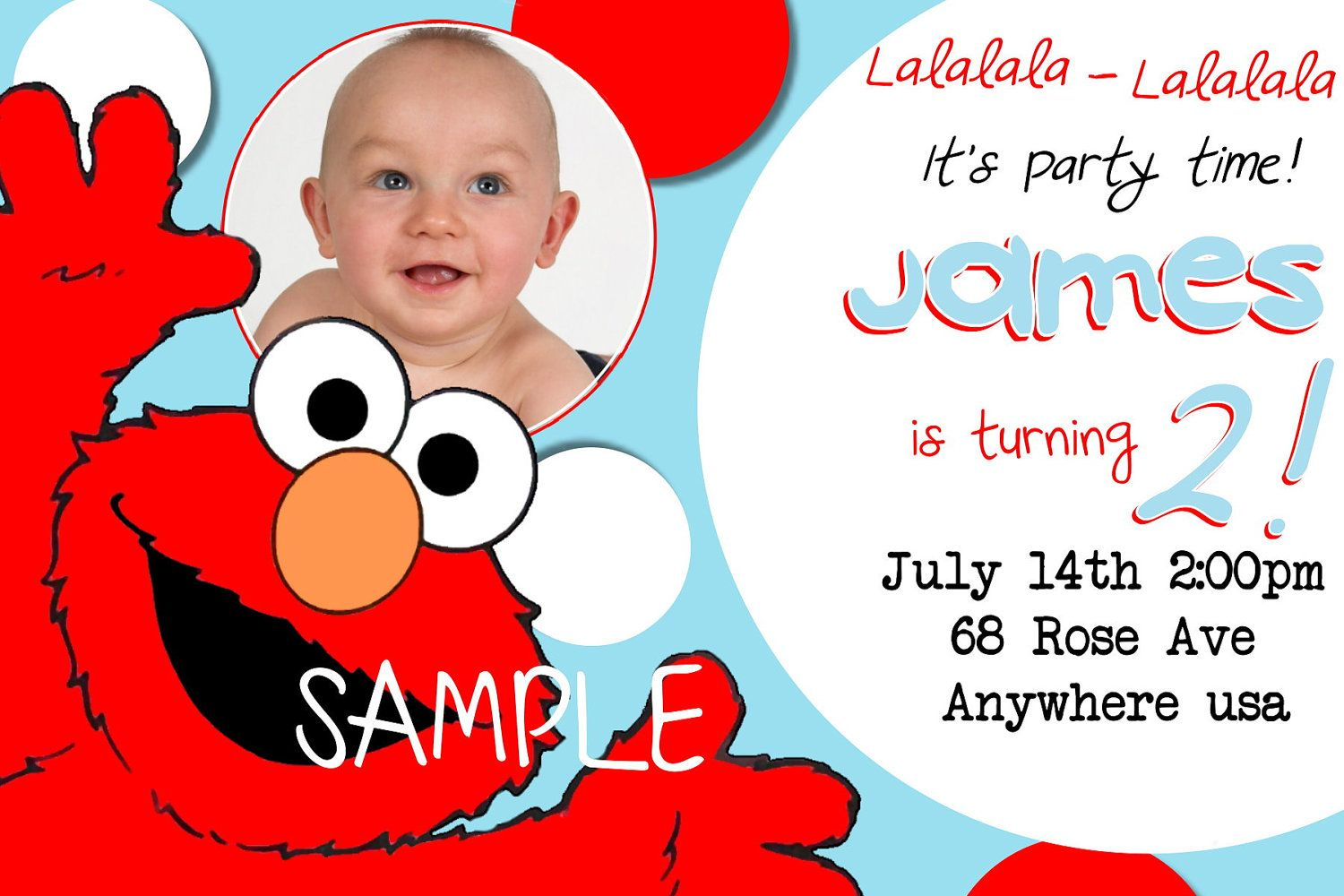 personalized photo elmo birthday invitations ; d328b4780ca5bd25b52b29aa32ad2138