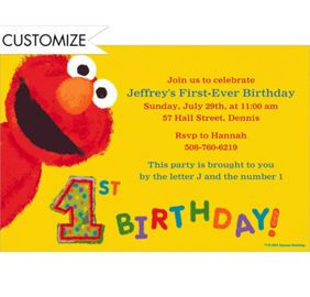 personalized photo elmo birthday invitations ; d8fc51f81298a769df77b9901c9600da