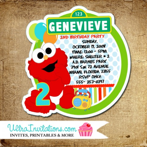 personalized photo elmo birthday invitations ; elmo-die-cut-birthday-invitations-2016-500x500