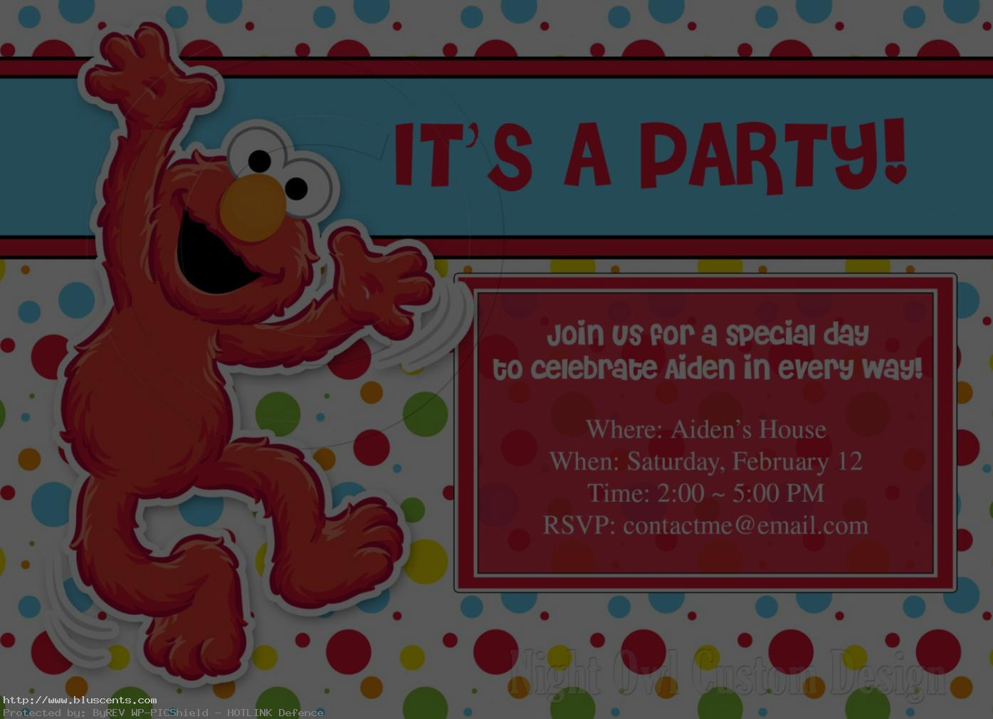 personalized photo elmo birthday invitations ; personalized-elmo-birthday-invitations-6
